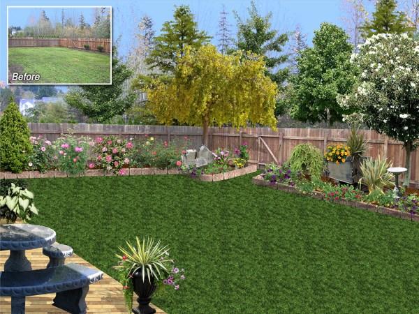 back yard garden design Landscape Design Software Gallery