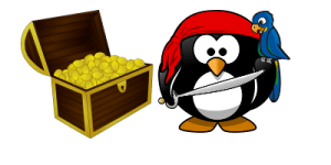 Pirate Penguin_with his treasure bounty