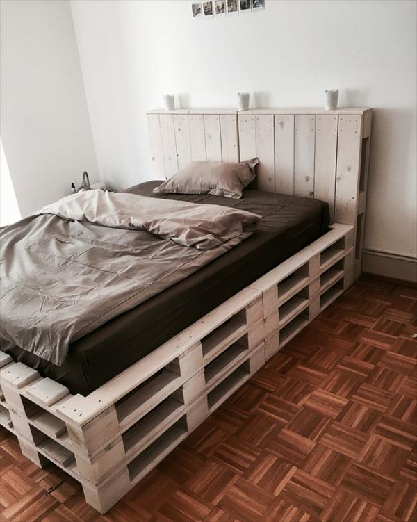 How to Make a Pallet Bed Frame - Ideas with Pallets on Pallet Bed Room  id=95752