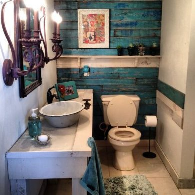 Inspired Wood Pallet Bathroom Projects   Ideas with Pallets We all need to know wood pallets can be used also for your bathroom decor  purposes  Re transform wood pallets and after painting use them for wall