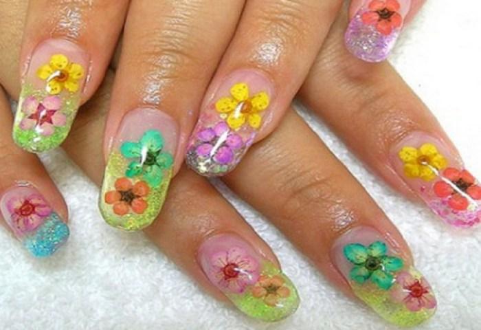 Uñas Decoradas Con Flores De Colores Ideas Consejos
