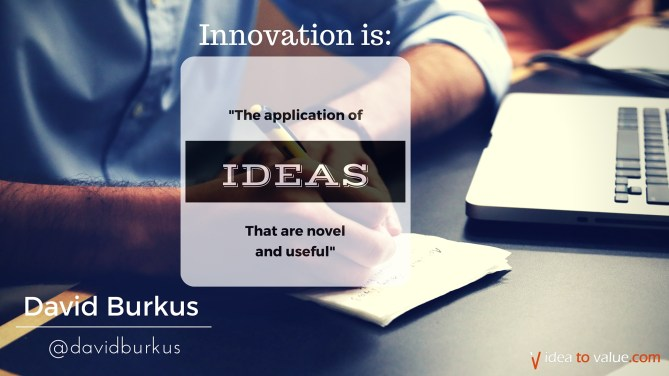 The application of ideas that are novel and useful