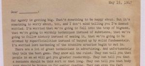 1947 creativity letter