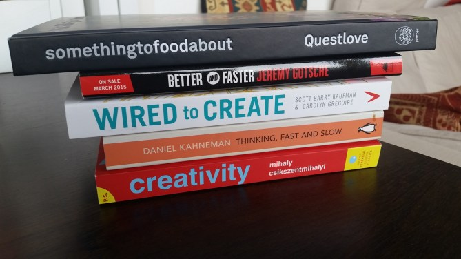 books on creativity that I'm reading