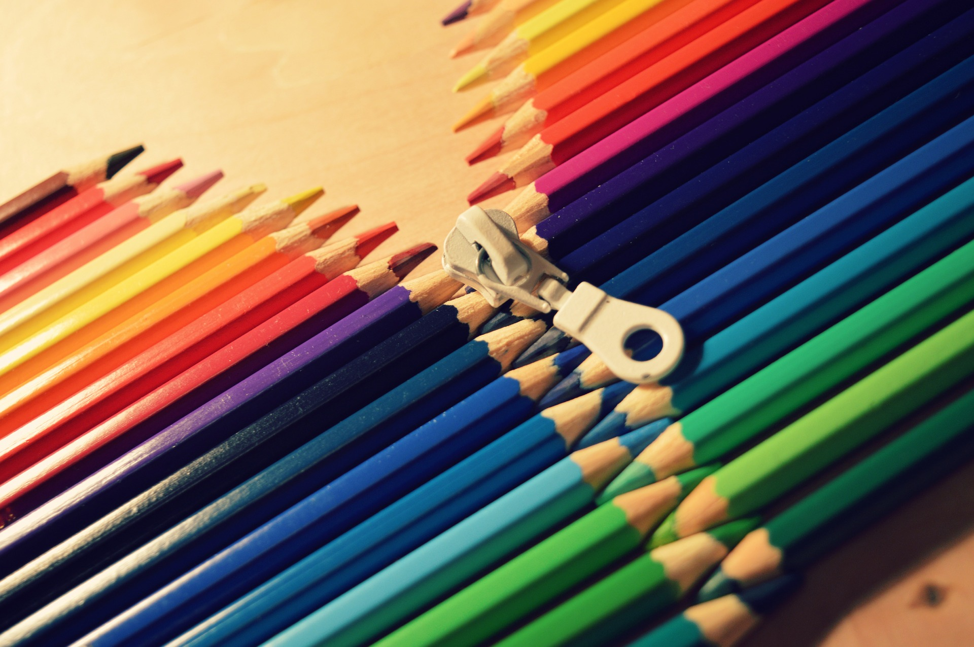 Coloured pencils
