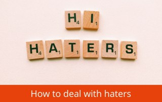how to deal with haters