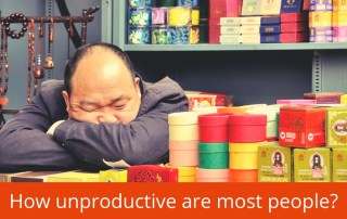 how unproductive most people are