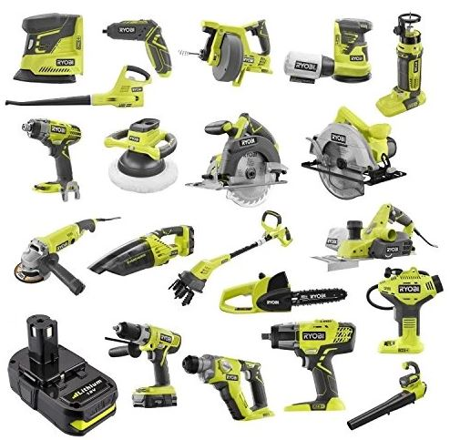 Ryobi One+ battery powers multiple different tools