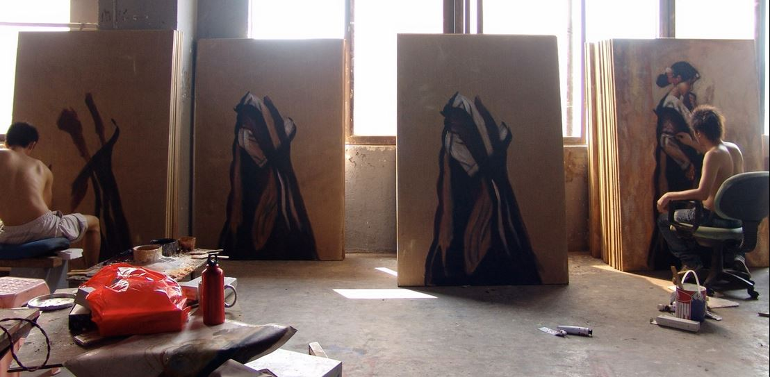 dafen chinese village where oil painting replicas are produced