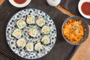 maki sushi sur assiette