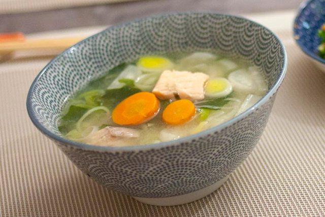 soupe au saumon et miso
