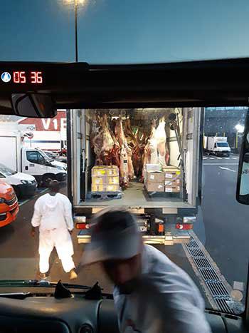 Camion de viande