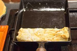 premier roulage de l'omelette