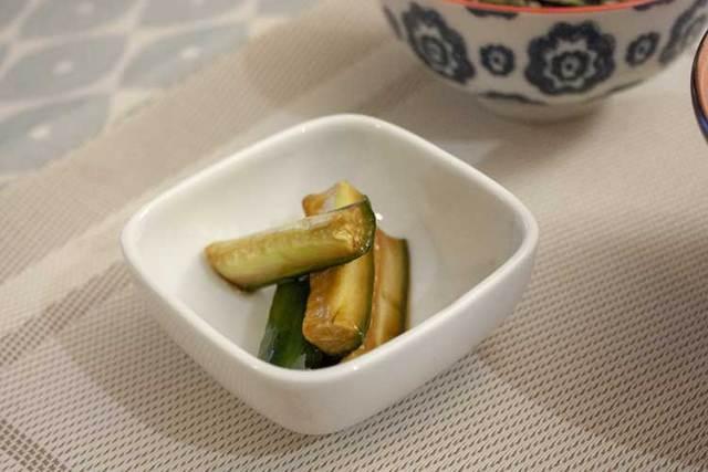 Tsukemono de concombres au shoyu