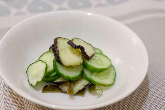 asaduke de concombre et aubergines