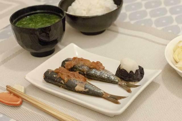 sardines mijotées aux umeboshi