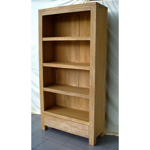 Bibliotheque Tagere Bois Naturel Meuble DIndonsie