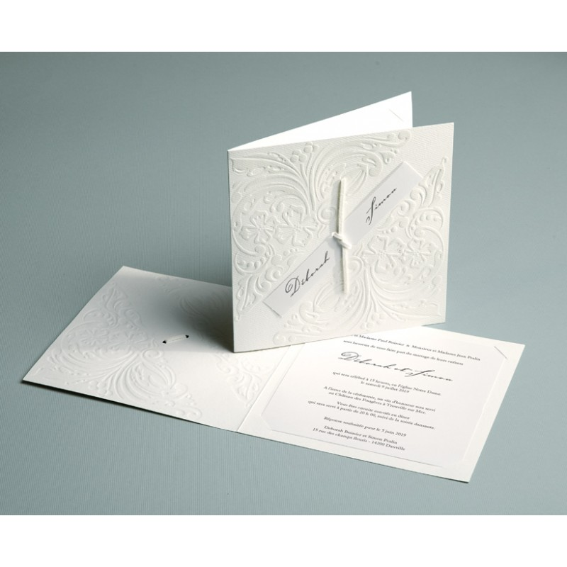 mariage traditionnel blanc et relief luxury