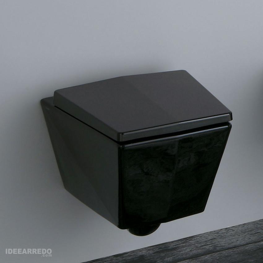 wc suspendu noir vases noir brillant crystal olympia ceramica