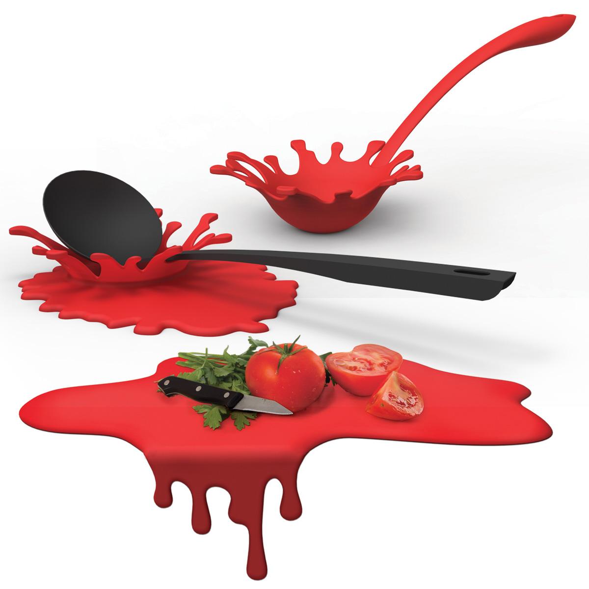 ustensiles de cuisine design eclaboussure splash