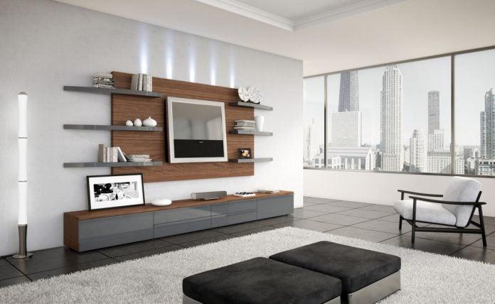 Uno spazio adibito al relax quotidiano. Pareti Attrezzate Per Un Soggiorno Moderno Idee E Consigli