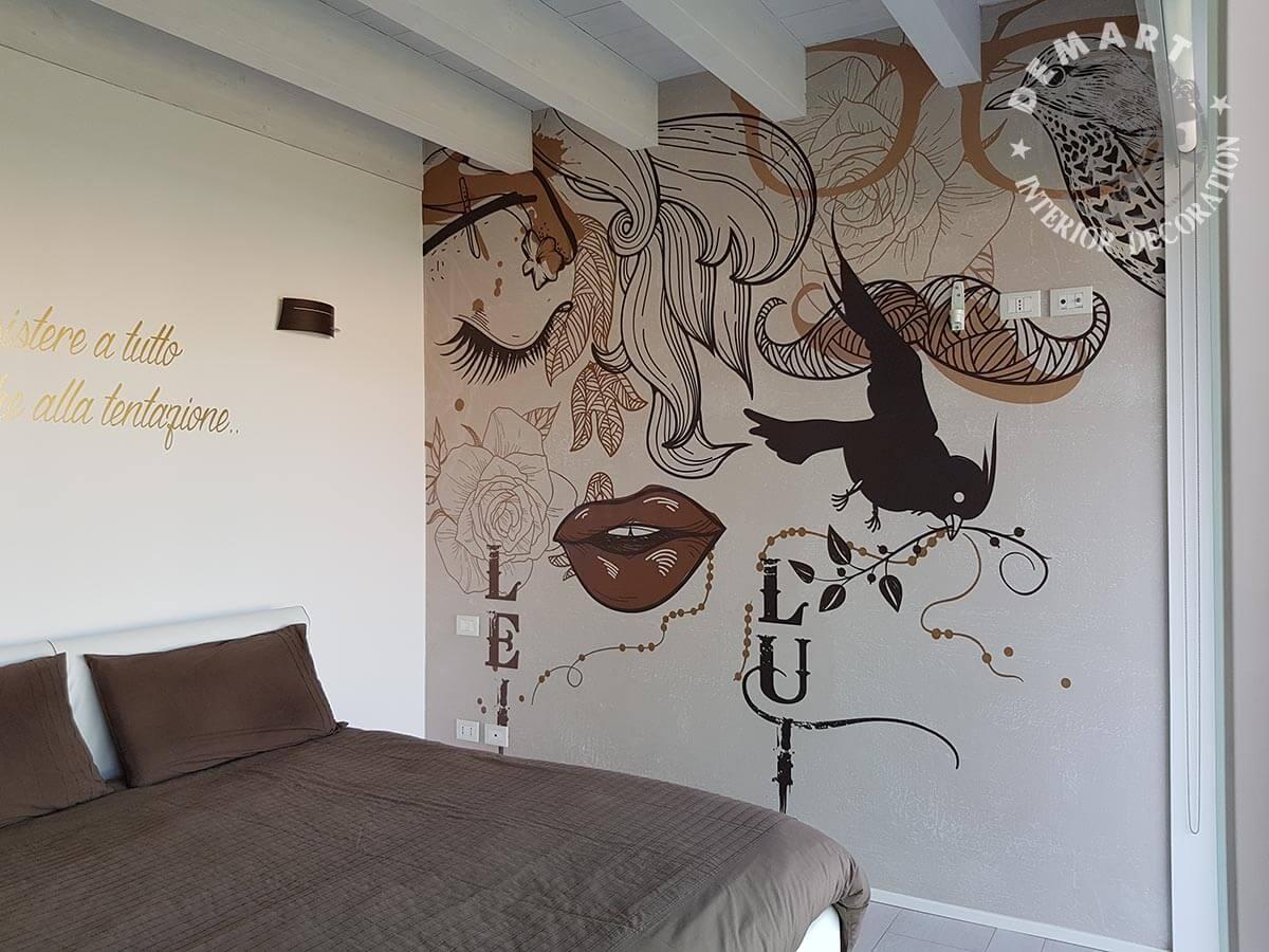 Come decorare le pareti con la carta da parati. Decorare Pareti Interne Con La Carta Da Parati Moderna E L Affresco Digitale Ideedicasa It