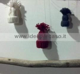 addobbi natalizi fai da te cappellini di lana