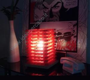 fare una lampada con tappi di plastica