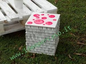 sgabello di cartone riciclato fai da te