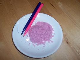 come fare il sale colorato