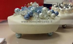 saponetta decorata con perle