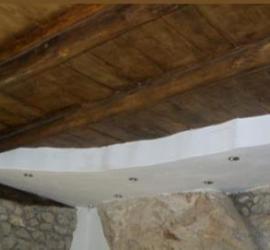 solaio in legno restaurato
