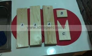 tavole di legno tagliate