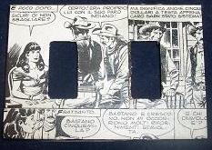 Placchette interruttori luce decorate con i fumetti