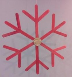 decorazione natalizia riciclo bastoncini gelato
