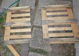 tagliare in due un pallet di legno
