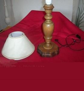 lampada di legno da verniciare