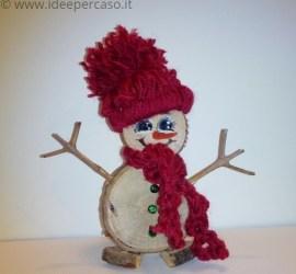 fare un pupazzo di neve con il legno