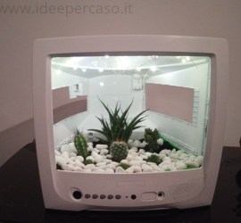 upcycling televisore giardino