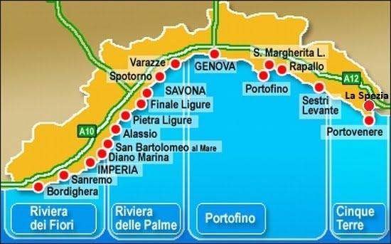 Migliori zone dove andare in vacanza in Liguria