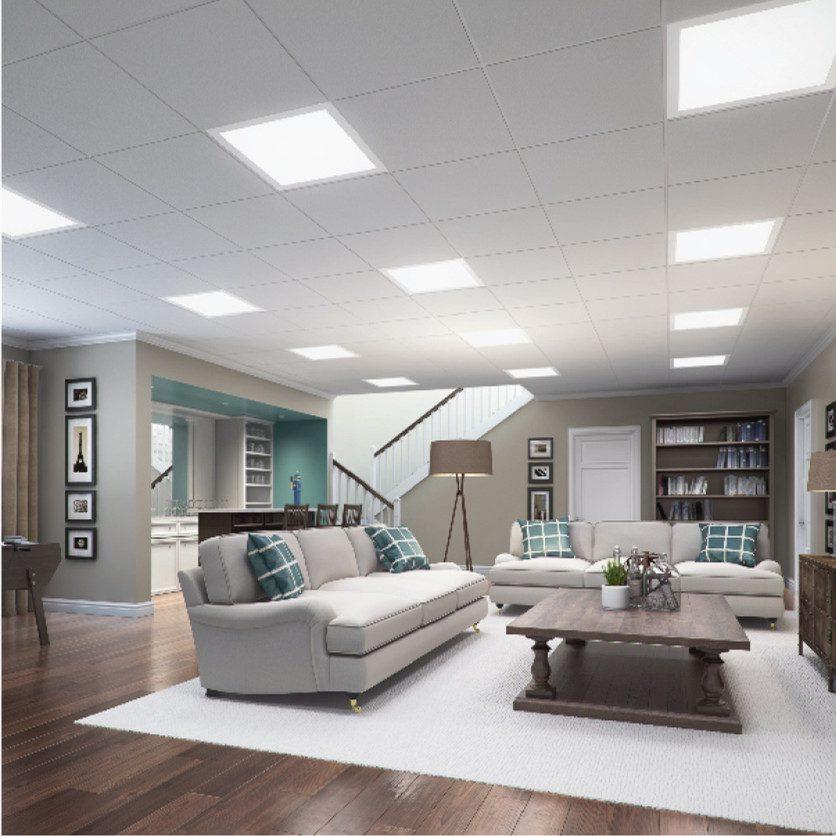 Dalle panneau LED 40W 600 x 600MM dans un salon