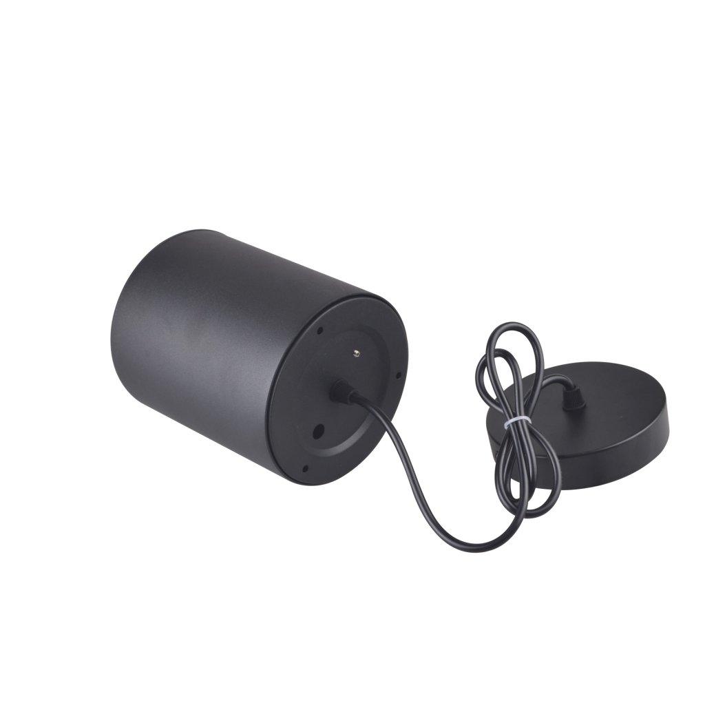 CRETEIL - Applique Cylindre saillie/suspension noire 20W CCT Tricolor IP20