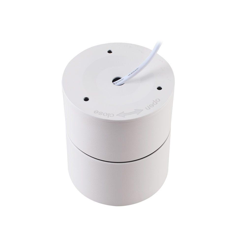 Créteil - Applique ronde orientable saillie blanche 15W CCT