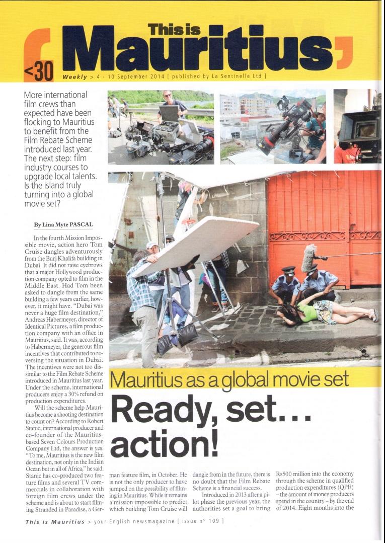 Film rebate scheme Weekly mauritius page 1