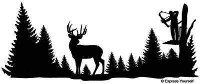 Clear Shot Whitetail Deer Mural Decal