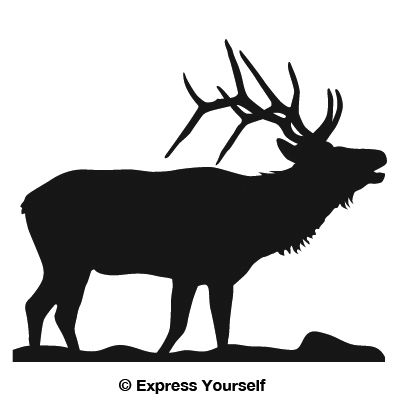 Bugling Elk Big Game Decal