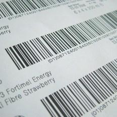Impressão de códigos de barras em etiqueta