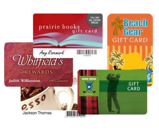 Pre Printed Custom Loyalty And Gift Cards