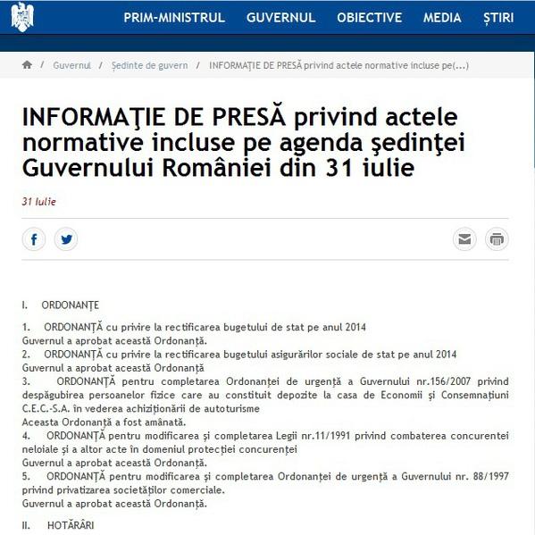 Sursa foto: pagina oficială de internet a Guvernului României