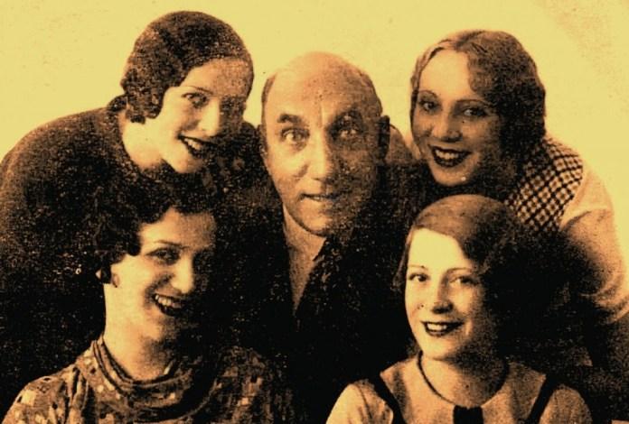foto: 1933 – Tănase și vedetele sale: Lisette Verea, Lulu Savu, Lizica Petrescu și Mia Steriade